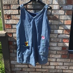 Vintage Pooh Plus Size Overall Shorts